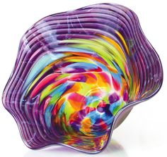VS473 Mini Floppy Bowl Eggplant - Glass Eye Studio