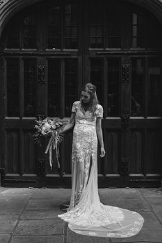 HdeP Bridal bespoke and made to order wedding dresses and wedding outfits for Gemma M. Bridal couture dresses for weddings with unique embroidery. Elope Wedding, Bridal Wedding Dresses, Elopement Wedding, Hermione, Split Skirt, Couture Dresses, Gowns, Formal Dresses, Bespoke