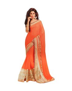 Orange Lace Work Bollywood Saree. Wear this beautiful and charming saree on your special ceremony. This Saree Is Totally Fashion Saree Designed Completely