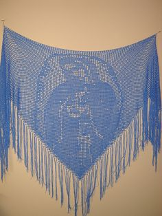 Although first published in this pattern is still one of my most requested. The Blessed Mother Prayer Shawl, Our Lady of Guadalupe, was my first magazine-published filet crochet pattern, picked up by then editor Brenda Stratton of Annie's Favorite C Crochet Prayer Shawls, Crochet Shawls And Wraps, Crochet Scarves, Crochet Chart, Crochet Patterns, Crochet Granny, Stitch Patterns, Knitting Patterns, Crochet Shoes