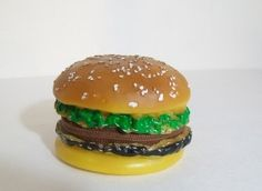 Recycled Rubber Hamburger Change Purse & Wallet -Large Size, $20.00