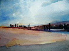 Tuscany marks part of the route of memory where we breathed cool air Winslow Homer, Andrew Wyeth, Watercolor Paintings, Watercolours, Tuscany, Contemporary, Landscapes, Artists, Inspired