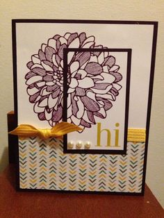 moonlight stack site:pinterest.com   Stampin up. Regarding dahlias. Moonlight DSP. Double time stamping ...