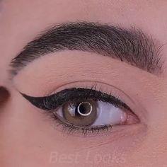 Beautiful Eye Makeup Tutorial - Augen Make Up Anleitung Eyebrow Makeup Tips, Makeup Eye Looks, Makeup Tutorial Eyeliner, Eye Makeup Steps, Beautiful Eye Makeup, Smokey Eye Makeup, Eyeshadow Makeup, Easy Makeup, Maquillage On Fleek