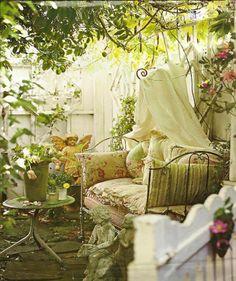 in the shabby garden...