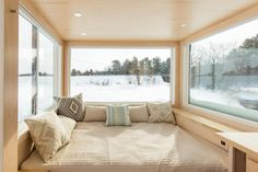 Vista - An open floorplan tiny house built by Escape Travelers in Rice Lake, Wisconsin. | pinned by haw-creek.com