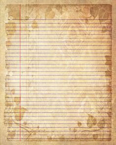 Printable Journal Page Sepia Leaves Lined by JournalExpress