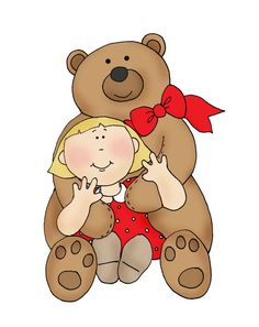 Digi Stamps Free, Digital Stamps, Bear Songs, Bear Illustration, About Time Movie, Kids Cards, Clipart, Coloring Pages, Colouring
