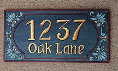 Address plaques family plaques house numbers  by decorativeart, $52.00