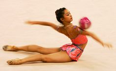 Olympic_Sports-20-2Tharatip Sridee of Thailand performs during the Women's Rhythmic Gymnastics Qualifying round during the 15th Asian
