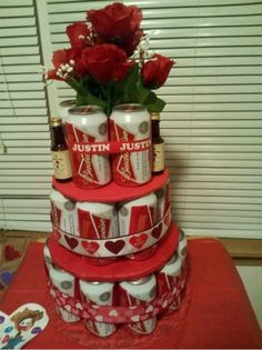 Beer cake... totally doing this for my boyfriend this week!
