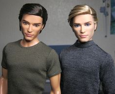 "PDF SEWING PATTERN 001 - Full tutorial. Tee shirt & turtleneck for 12"" male dolls, such as Barbie friend Ken."