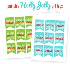 simple as that: Printable Holly Jolly Christmas Gift Tags