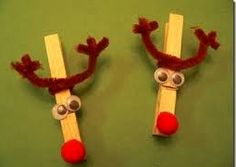 Clothes Peg Reindeer