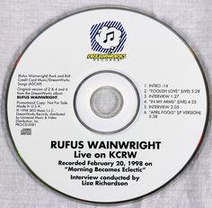Rufus Wainwright 1998 Live On KCRW Promo Compilation CD Jazz Pop Music MT/NM #PopRockJazzBalladAlternativeRockIndieRock1990s