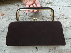Vintage chocolate Brown and Yellow Gold Frame by ElectricCupcakeCo, $27.00