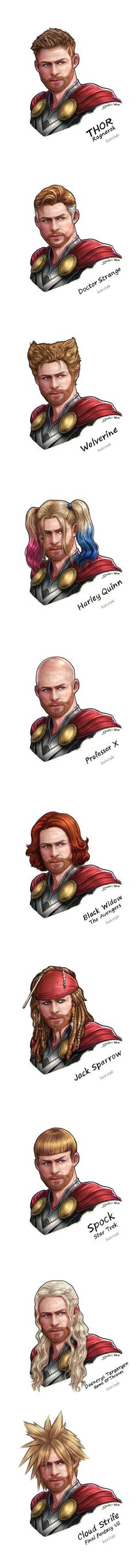 Thor | Hair | Artwork | Marvel Comics || WHY IS THIS SO FUNNY