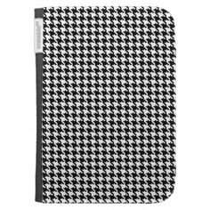 Black and White Houndstooth Pattern Kindle 3G Case