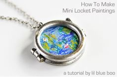 How To Make Mini Locket Paintings | Ashley Hackshaw / Lil Blue Boo