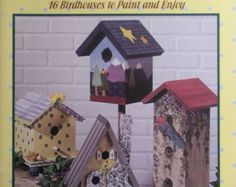 PLAID Fun & Fancy Birdhouses Painting Book Country Folk Art Easy Projects Various Artists