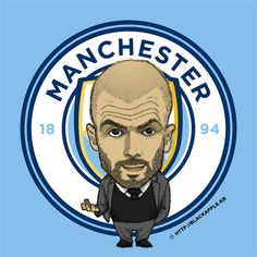 Manchester City New Coach Pep Guardiola Fan Art