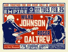 Wilko Johnson and Roger Daltrey | Tour Poster 2014
