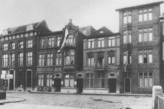 Het Diaconessenhuis De Wijk in 1938. Het gebouw met de vlag werd in 1916 gebouwd. De instelling was sinds 1902 gevestigd in het buurhuis rechts (Westhaven 11).