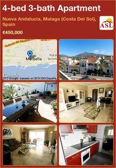 4-bed 3-bath Apartment in Nueva Andalucia, Malaga (Costa Del Sol), Spain ►€450,000 #PropertyForSaleInSpain