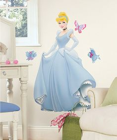 Take a look at this Cinderella Giant Peel & Stick Wall Decal Set by Disney on #zulily today!