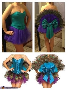 Peacock Costume - 2013 Halloween Costume Contest via @Merry Falk Works