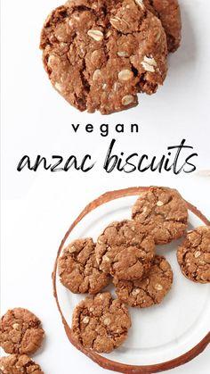 Sugar Free Desserts, Vegan Dessert Recipes, Cookie Recipes, Vegetarian Recipes, Healthy Vegan Cookies, Healthy Sweets, Healthy Food, Vegan Treats, Healthy Eating