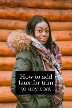 Give your parka an instant makeover (no sewing machine needed). This faux fur trim attaches to any hood or collar with super-strong magnets. Super Strong Magnets, I Love Winter, Fur Collars, Fur Trim, Parka, Faux Fur, Sewing, Capsule Wardrobe, Coat