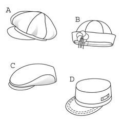 sewing printables free | Sewing Patterns on Burda 9587 From Burda Patterns Is A Hats Caps ...