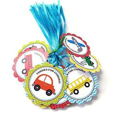 Transportation Thank You Favor Tags - Set of 24    Oh so cute! Transportation Thank You Favor Tags for your little guy (and gal)'s party. #KidsParty