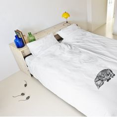 Fancy - Ollie the Cat Duvet by Snurk- How cute would this be to make with a picture of your own sleeping cat and Super Soft Transfer Paper?! If your cat is more of a pillow sleeper you could try it on one of our cotton pillow cases!