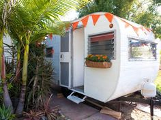 Mobile Love Den in San Diego Woman updates trailers and rents them out on air BB She has three in different friends yards.