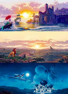 Gorgeous Paintings. I have seen the Ariel one up close.