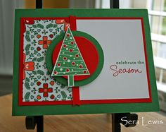 Stampin' Up! Festival of Trees plus Nordic Noel DSP on Pink Paper Bakery (by Sera Lewis)