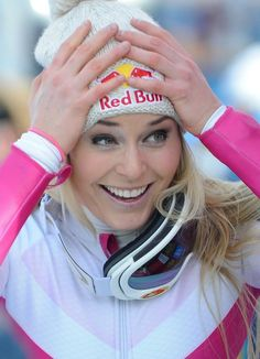 Lindsey Vonn in Cortina d'Ampezzo.
