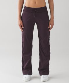 These lightweight pants are  easy to throw on over sweaty  shorts when you're ready to  make a quick getaway.