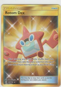 Pokemon SUN & MOON Trainer EX Full Art ROTOM DEX 159/149 Item SECRET RARE