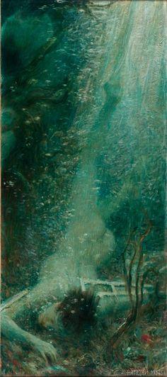 Vlaho Bukovac, Ikarov pad (drugo krilo diptiha), 1898  Сликар Влахо Буковац (1855 – 1922) « Народни музеј у Београду