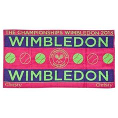 you can personalize with your initials this year . how cute :) Wimbledon Ladies Championships Towel 2012 - Raspberry/Purple Wimbledon 2012, Wimbledon Tennis, Tennis Tournaments, Tennis Players, Polo Ralph Lauren, Lawn Tennis, Tennis Championships, The Championship, Souvenir