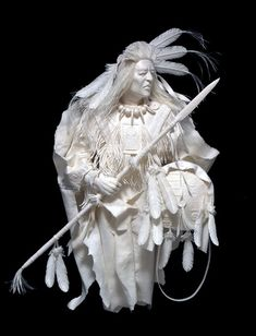 Native American Art Paper Sculptures