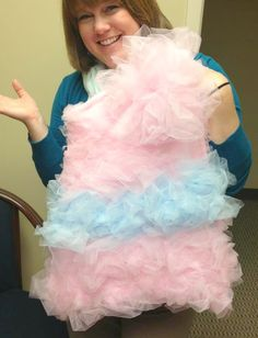 Another Crafty Day: DIY Halloween Costume: Cotton Candy