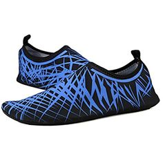 Water Shoes Mens Womens Barefoot Beach Swimming Lightweight Quick dry Aqua Socks Anti-skid Slip-on Pool Shoes for Exercise Yoga