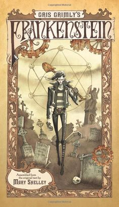 """In his graphic novel adaptation of Mary Shelley's 1818 novel Frankenstein, illustrator Gris Grimly says he wants to make the story more accessible. """"The first time I tried to read Frankenstein, I didn't get through it,"""" he says. Mary Shelley Frankenstein, Frankenstein Book, Monster Creator, Frankenstein's Monster, Monster Mash, The Modern Prometheus, Drawing Rocks, Kindle, Books"""