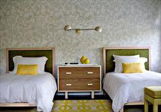 Decoração- combinar amarelo com outras cores: verde