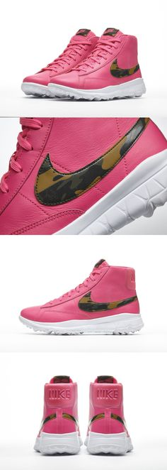 Golf Shoes 181147: Nike Womens Blazer Golf Shoes Cleats Spikeless Hi White Pink Camo Many Sizes -> BUY IT NOW ONLY: $69.9 on eBay!