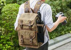 military rucksack Size: 30*16*42 cm Dslr Camera Bag, Camera Backpack, Reflex Camera, Rucksack Backpack, Leather Backpack, Laptop Backpack, Travel Backpack, Travel Bags, Fabric Photography